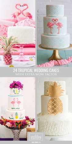 24 Tropical Wedding Cakes That Wow ❤ We gathered ideas of tropical wedding cakes to help you organize most of possible variants. See more: http://www.weddingforward.com/tropical-wedding-cakes/ #weddings #cakes