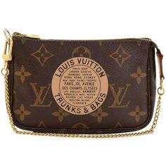 Preowned Louis Vuitton Mini Pochette Accessories T&b Monogram Canvas... ($340) ❤ liked on Polyvore featuring bags, handbags, clutches, multiple, mini pochette, party clutches, pre owned handbags, louis vuitton and louis vuitton pochette