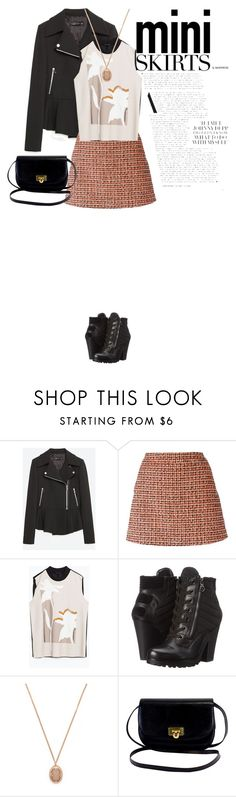 """""""Untitled #831"""" by d-cuevas ❤ liked on Polyvore featuring Zara, dVb Victoria Beckham, GUESS, Forever 21 and MINISKIRT"""