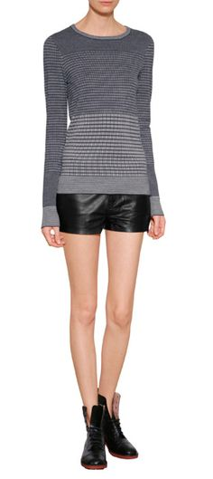 An optical two-tone jacquard weave lends this contemporary knit from Current Elliott by Charlotte Gainsbourg a touch of modern polish #Stylebop