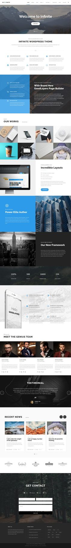 Infinite is well designed responsive #WordPress theme for multipurpose amazing #website. #business Download Now!