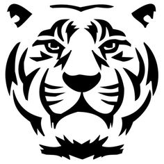 Tiger Die Cut Vinyl Decal PV682