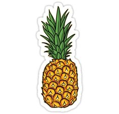 Sweet Pineapple Sticker Pineapple illustration of sweet tropical fruit for lovers of pineapples. Stickers Cool, Preppy Stickers, Cute Laptop Stickers, Bubble Stickers, Food Stickers, Printable Stickers, Tumblr Sticker, Pineapple Illustration, Homemade Stickers