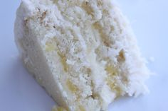 utah State fair winner: pina colada cake; light, white coconut milk cake with a hint of coconut extract is sweet and tender, filled with a sweet pineapple mixture and covered in a whipped cream coconut milk cream cheese frosting
