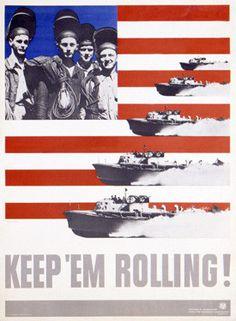 WWII Homefront - Keep 'em Rolling PT Boat Fine Art Print
