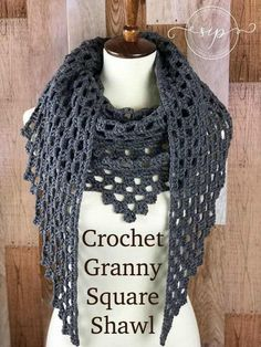 Crochet Granny Square Shawl.. nice with carron cakes