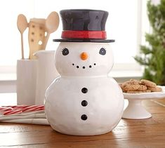 Snowman 2015 Cookie Jar by Pottery Barn