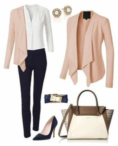 Navy and blush business outfit