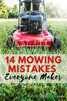 Mowing the lawn might seem like an easy landscaping chore, but there are still ways to mess it up. Making these mowing mistakes will damage the lawn or the lawn mower. Avoid these mowing problems so you have a great yard. Landscaping Equipment, Lawn Equipment, Backyard Landscaping, Backyard Ideas, No Mow Grass, Lawn Mower Blades, Lawn Care Tips, Lawn Service, Lush Lawn