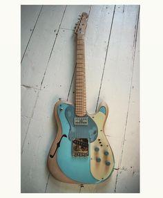 Indra Poseidon. www.indraguitars.com • • • #guitarist #guitar #handmade #madeinuk #luthier #lovemyjob #maker #made #workshop #artisan #customguitar #music #madeinengland #luthiery #uniqueguitars #blues #boutiqueguitars #rockguitar #contemporaryart #designer #design #imadethis #fenderfriday #electricguitar #tele #telecaster #fender #guitarphotography #guitarlove #guitarsdaily