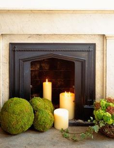 Non-working Fireplace? OH the Possibilities!