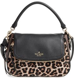 kate spade new york cobble hill - deva leather crossbody bag Fashion Handbags, Purses And Handbags, Fashion Bags, Fashion Accessories, Trendy Accessories, Fashion Trends, Leopard Bag, Leopard Prints, Animal Prints