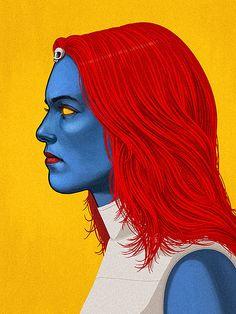 Mystique- Mike Mitchell's Marvel GIFs | POPSUGAR Tech