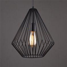 Nordic Retro Black Iron Pendant Lamp PL494