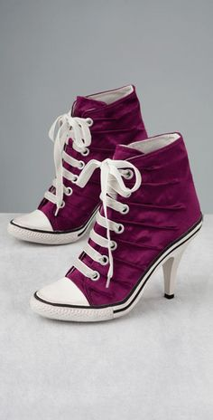 @Shawna Marie Converse High Heels Sneakers - want me to wear Converses for your wedding, Im wearing ones with heels! lol