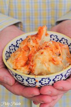 Garlic Parmesan Style Baked Mashed Potatoes via @Jenny Flake, Picky Palate