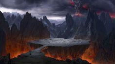 Digital Matte painting I did for Kaspersky Lab advertisement High Fantasy, Dark Fantasy Art, Sci Fi Fantasy, Fantasy World, Fantasy Landscape, Landscape Art, Alien Art, Fantasy Places, Matte Painting