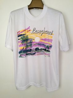 Best Possible Vintage Sunset in Langkawi Tee XL by paulseclectic on Etsy