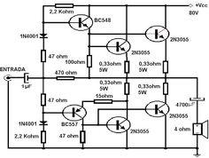 Amplificadores de audio: Amplificador transistorizado de 90 W