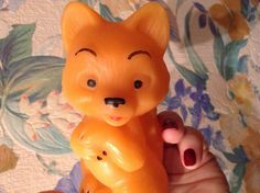 Fox vintage rubber toy. Russia USSR by RussiaVintage on Etsy