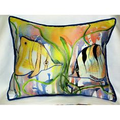 Angel Fish 16x20 Outdoor Pillow