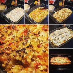 Субботняя овощная лазанья со сметанным соусом