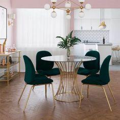 Luxury Dining Room, Dining Room Design, Green Dining Room, Dining Room Art, Small Dining Rooms, Dining Table Small Space, Dining Table In Living Room, Dining Room Furniture, Small Living