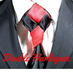 How To Tie a Tie - Double Harlequin Knot Video Tutorial. You can't find Necktie Knots done with two neckties anywhere else! 100 Ways to Tie a Tie.