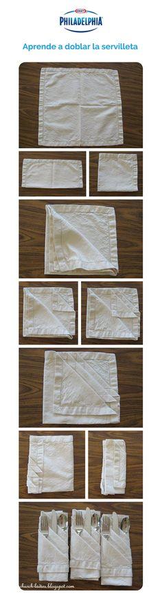 #GoodIdeas Aprende a doblar la servilleta para esa cena formal.