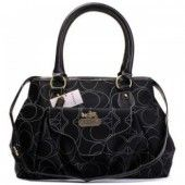 Coach Kristin Leather Tote Black $76.00 http://www.coachstyles.com
