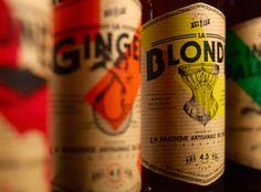 Beautiful beer bottle labels