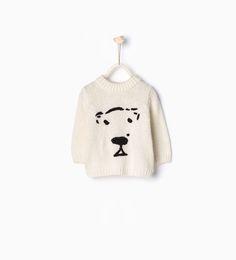 Sweter z niedźwiedziem - Swetry - Niemowlę chłopiec | 3 miesiące - 3 lata - DZIECI | ZARA Polska