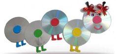 Como hacer un gusano con cd realizando manualidades para niños