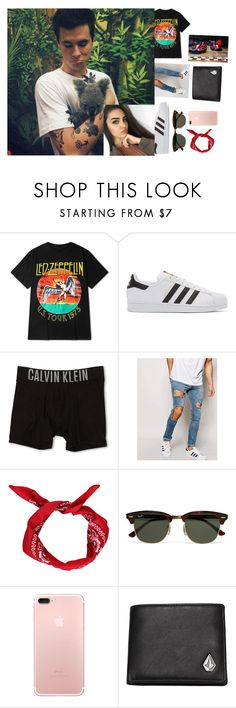 """""""""""Girl your perfect,girl your worth it""""Kian"""" by the-crazy-anons ❤ liked on Polyvore featuring adidas Originals, Calvin Klein Underwear, ASOS, Boohoo, Ray-Ban, Volcom, men's fashion and menswear"""