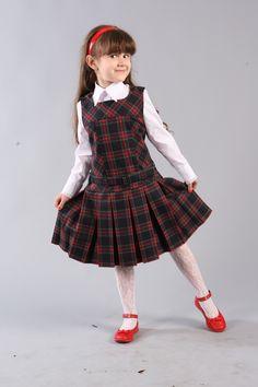 Сарафан из шотландки освежит вашу школьную форму