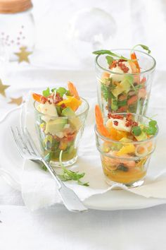 Citrus Shrimp Ceviche with Avocado and Bacon Dust