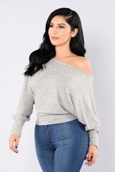 Side Track Sweater - Heather Grey