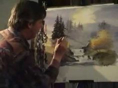David Bellamy paints a waterfall in watercolour Part 2 - YouTube