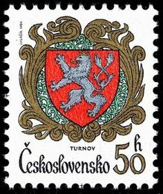Poštovní známka - Československo 0,50 Kčs European Countries, Czech Republic, Postage Stamps, Decorative Plates, Retro, Seals, Coat Of Arms, Europe, Nostalgia