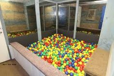Home made ball pit pvc pipe netting from hobby lobby and - Mattress made of balls ...