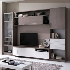 33 veces he visto estas lindas muebles minimalistas. Small Spaces, Home Decor, Living Room Trends, Living Room Tv Unit Designs, Wall Tv Unit Design, Scandinavian Design Living Room, Wall Unit, Living Room Designs, Living Room Tv