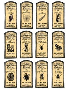 magic potions apothecary labels