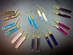 **Champagne Thursday Special** Rectangular Dangle Earrings
