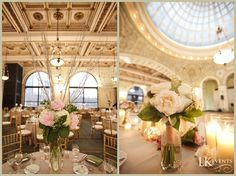 Wedding Florals at #Chicago Cultural Center. Photo by @Husar Photography #centerpieces #tablescape