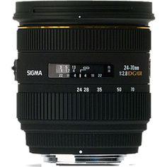 Sigma 24-70 2.8 DG HSM EX Lens for Nikon for R6,999.00