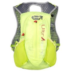 The UltrAspire Velocity Hydration Race Vest is a dynamic new full-featured streamlined, fast and fun 7 liter capacity racing pack! With it's universal fit, this pack functions well for a wide range of people with varying needs. Lightweight and compressible for the minimalist crowd yet still enough capacity for those events where more is needed. Sleek and colorful, red hits and roomy side pockets make the Velocity eye catching and unique. Includes two 550mL UltraFlask™ bottles. •  2.4 liter…
