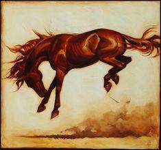Un Brio Escondido II by Sequoia C. Small Paintings, Large Painting, Animal Paintings, Figure Painting, Original Artwork, Original Paintings, Chestnut Horse, Young Animal, Brio