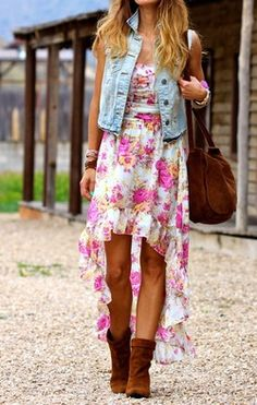 cute country girl outfit! maybe without the jacket and put a big brown belt though