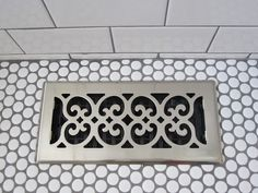 my two favorite types of tile. and my new favorite vent cover. who knew you could have one of those?