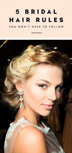 6 bridal hair rules to break // via @byrdiebeauty